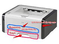 Hướng dẫn in khay Bypasstray (còn gọi khay tay) từ máy in Ricoh sp200 và 200N