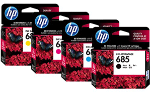 Hộp mực sử dụng cho máy in  HP 685 BK/C/M/Y