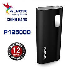 Pin sạc dự phòng ADATA 12500MAH P12500D ADATA (Đen) - Hãng phân phối chính thức